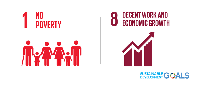 Sustainable Development goals 1 and 8