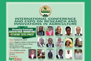 International Conference and Expo on Research and Innovation in Agriculture (ICERIA) 2019