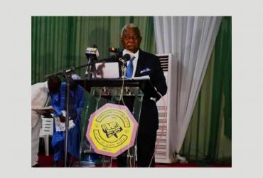 Dr. Kanayo Nwanze delivering the keynote address at the 55th Annual Congress of the Nigerian Veterinary Medical Association in Sokoto.